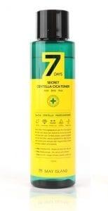 Обновляющий тонер для проблемной кожи May Island 7 Days Secret Centella Cica Toner AHA/BHA/PHA