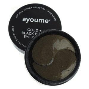 Патчи под глаза с золотом и черным жемчугом Ayoume Gold + Black Pearl Eye Patch