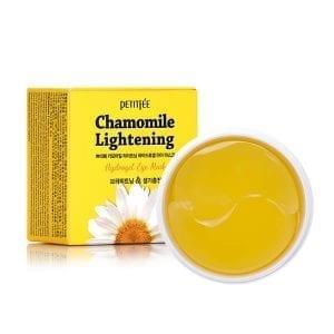 Патчи против темных кругов с экстрактом ромашки Petitfee Chamomile Lightening Hydrogel Eye Mask