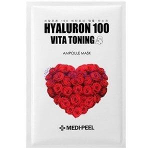 Осветляющая выравнивающая тон маска Medi-Peel Hyaluron Vita Toning Mask