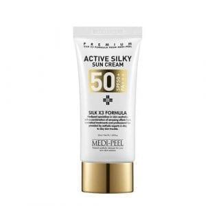 Солнцезащитный крем Medi-Peel с комплексом пептидов и аминокислотами шёлка  Active Silky Sun Cream SPF50+PA+++