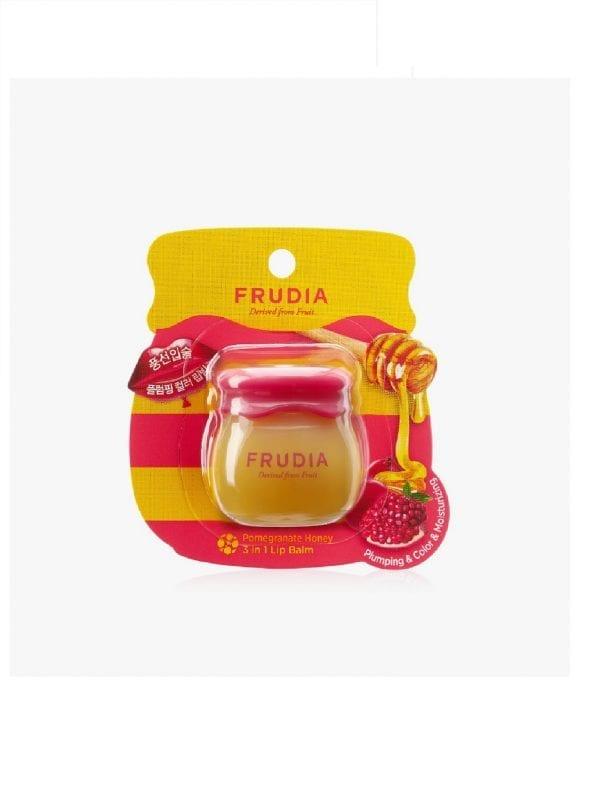 Бальзам для губ с мёдом и экстрактом граната Frudia Pomegranate Honey 3in1 Lip Balm