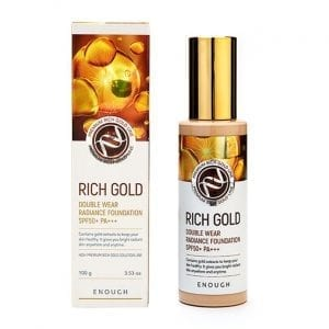 Омолаживающая тональная основа с золотом Enough Premium Rich Gold Double Wear Radiance Foundation SPF 50
