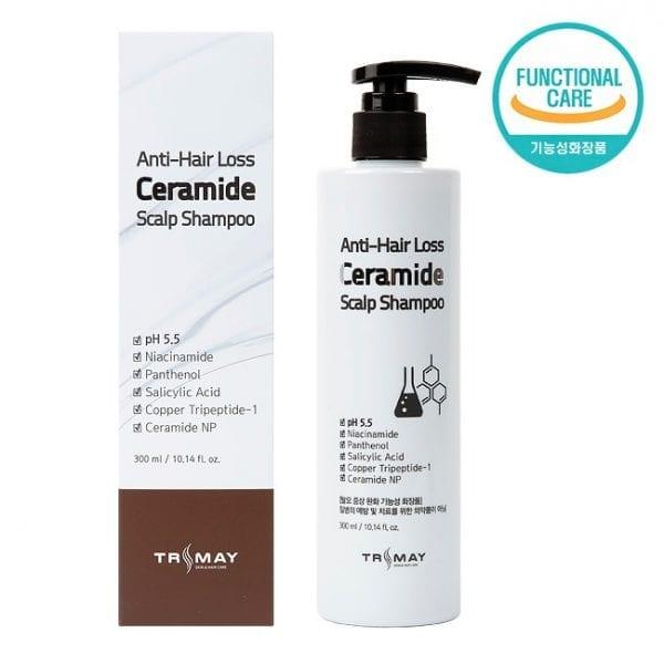 Слабокислотный шампунь с керамидами против выпадения волос TRIMAY Anti-Hair Loss Ceramide Scalp Shampoo p.h 5.5