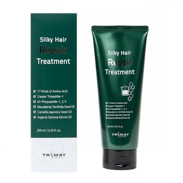 Безсульфатный восстанавливающий бальзам для волос TRIMAY Silky Hair Repair Treatment p.h 5.5