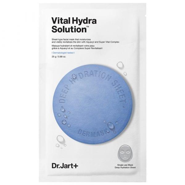 Увлажняющая тканевая маска с гиалуроновой кислотой Dr. Jart+ Dermask Waterjet Vital Hydra Solution
