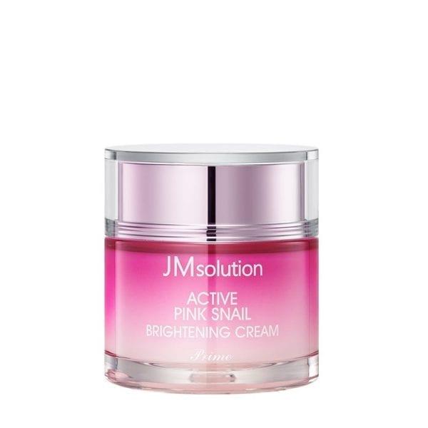 Осветляющий крем с улиточным муцином JMsolution Active Pink Snail Brightening Cream Prime