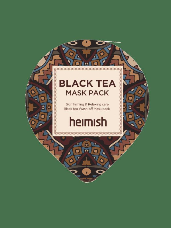 (Миниатюра) Успокаивающая маска для лица с черным чаем (Miniature) HEIMISH Black Tea Mask Pack