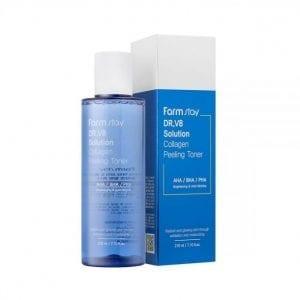Пилинг-тонер с кислотами и коллагеном FarmStay Dr.V8 Solution Collagen Peeling Toner
