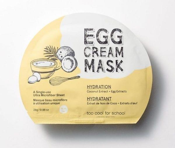 Яичная тканевая маска Too Cool For School Egg Cream Mask Hydration