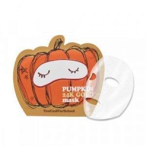 Восстанавливающая тканевая маска с тыквой и золотом Too Cool For School Pumpkin 24K Gold Mask
