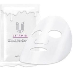 Осветляющая тканевая маска CU Skin Vitamin U Creamy Brightening Mask